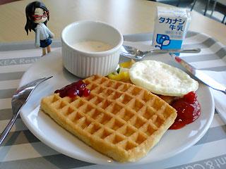 IKEAの朝ご飯プレート。格安。