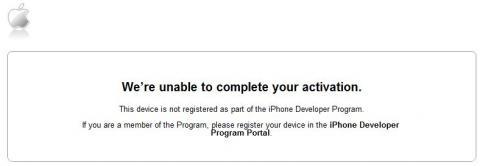 iPhone アクチべートできず