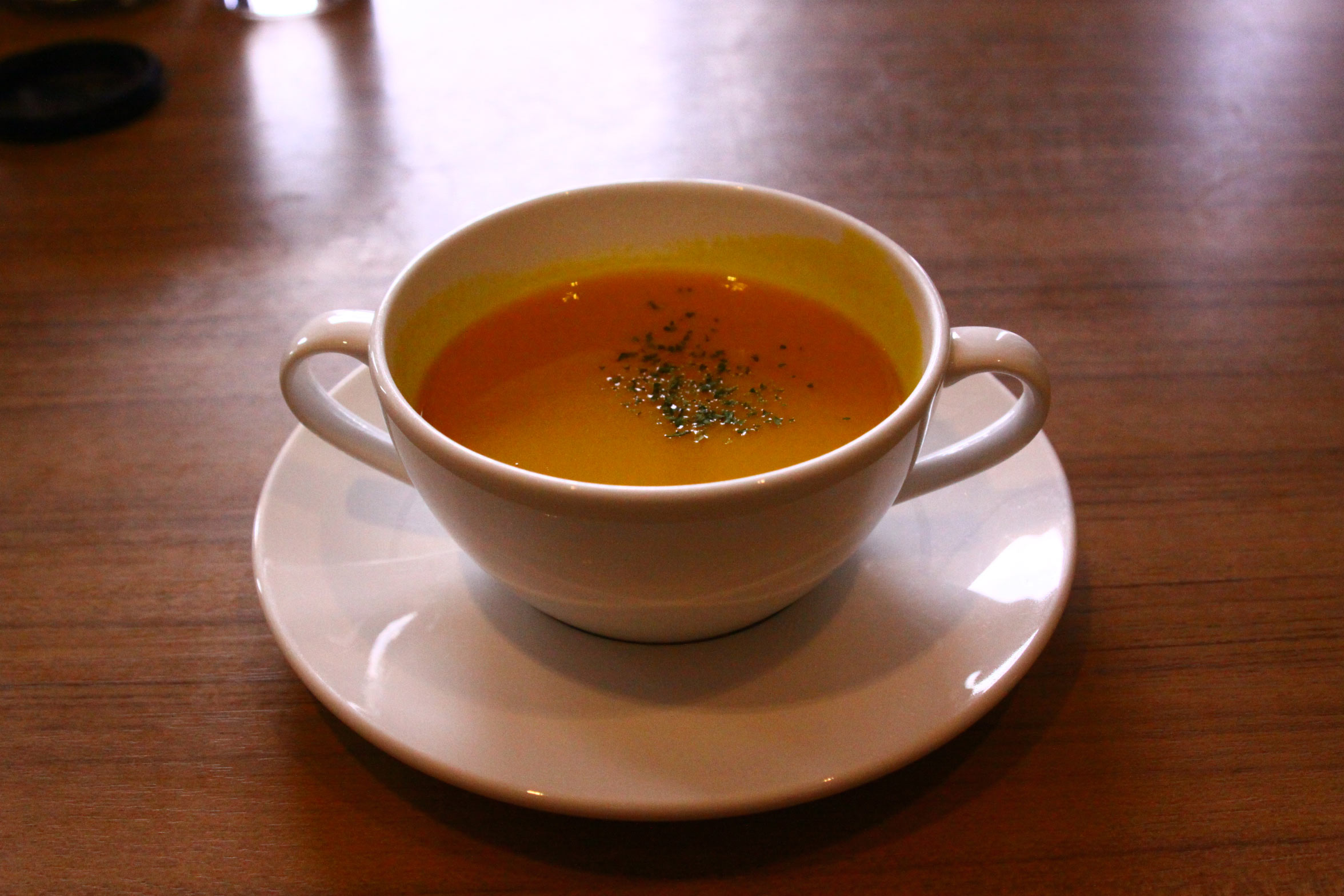 かぼちゃスープ・神戸学院大学内レストラン