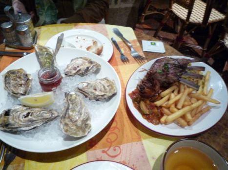 牡蠣と羊肉