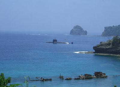 浜江丸と潜水艦