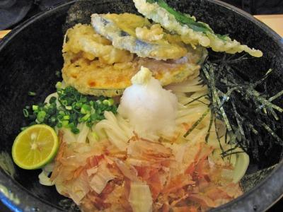 野菜天ぷらぶっかけ