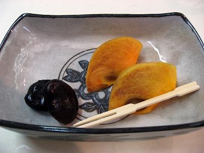 三島の柿、一寸豆蜜煮