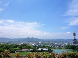 紀ノ川サービスエリアより JR阪和線を見る