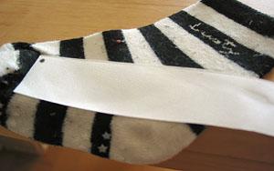 アイロンプリント靴下