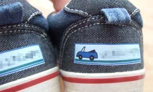 靴にアイロンプリント