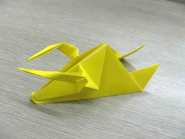 簡単 折り紙:折り紙 三角錐-origamikyouiku.blog96.fc2.com