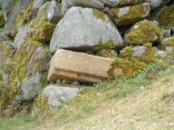 郡山城趾石垣 何を流用したのでしょうか