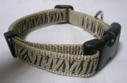幅15mmゼブラ柄の首輪&リード