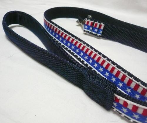 アメリカ国旗柄首輪&リード