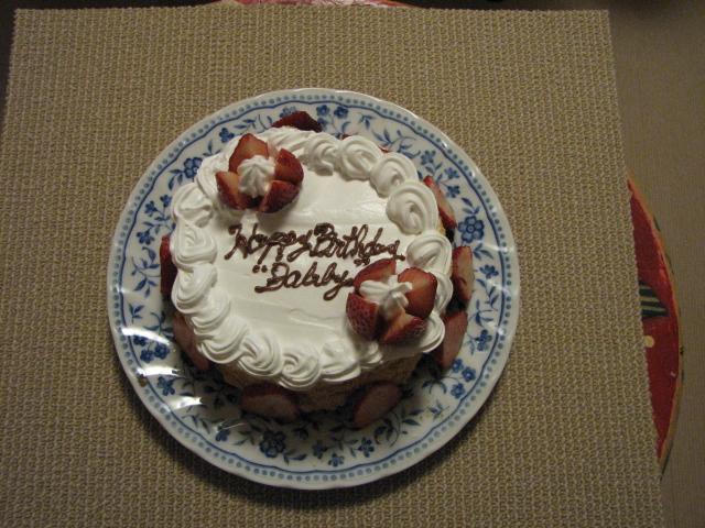 ママお手製のバースデイケーキ♪