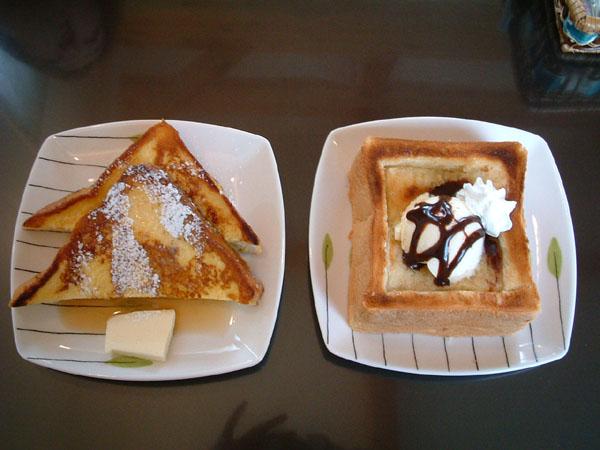 ハニートースト&フレンチトースト。