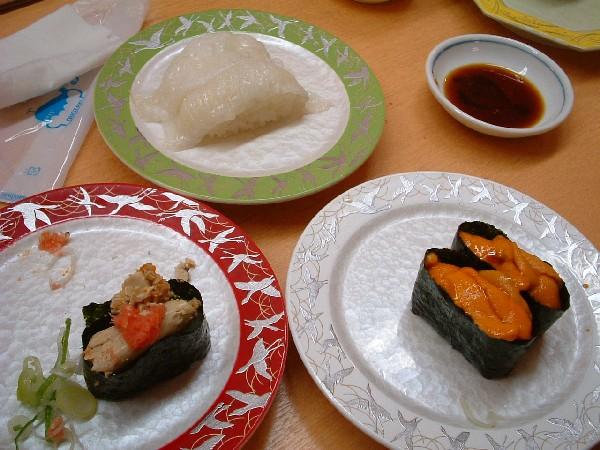 お目当てのお寿司。