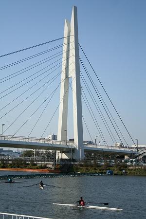 競艇場の橋。