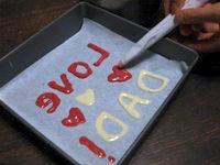 バレンタイン:額縁入り特大チョコレート