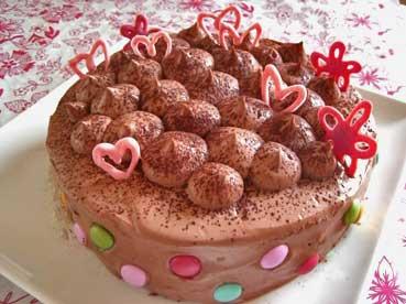 お誕生日のチョコケーキ