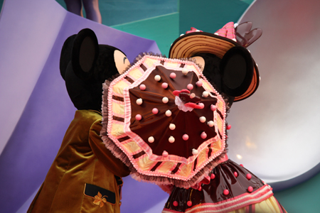 ミッキー・ミニー テーブル 傘ちゅー2