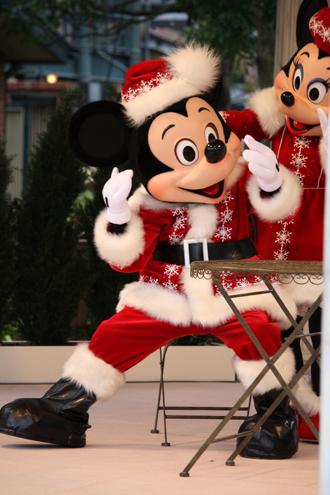 ミッキー クリスマスグリ 振り向き