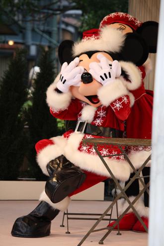ミッキー・ミニー クリスマスグリ この手は