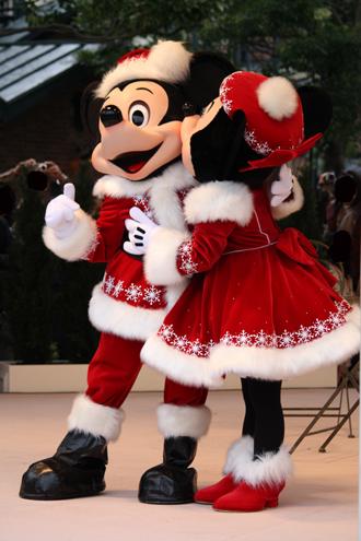 ミッキー・ミニー クリスマスグリ ほっぺちゅー