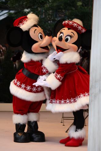 ミッキー・ミニー クリスマスグリ 顎持ち