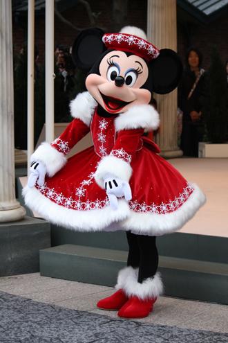 ミニー クリスマスグリ スカート持ち