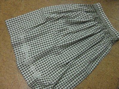 スモックしたスカート