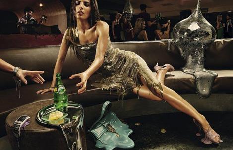 とろけちゃう感じがうまい宣伝広告 - Perrier