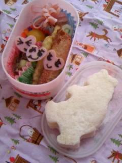 クマさんサンドイッチ弁当