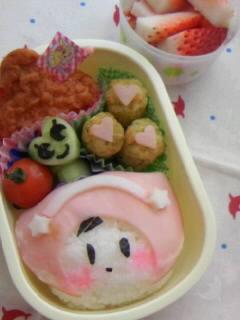 幼稚園弁当 帽子女の子お弁当