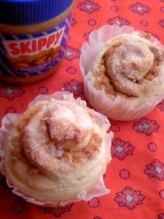 くるくるピーナッツバターパン 2個