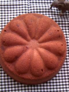 生クリームチョコケーキ お花型 全体