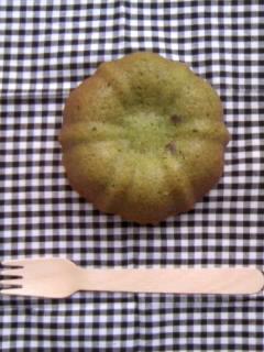 抹茶マフィン プティングケーキ型 1個アップ