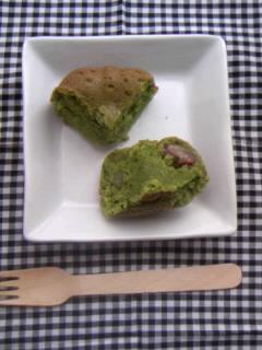 抹茶マフィン プティングケーキ型 断面