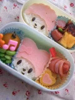 幼稚園弁当 メロディー&ピアノちゃん