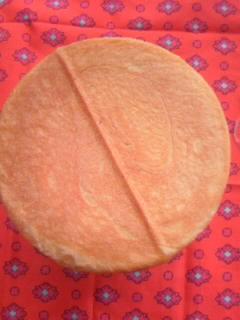メッシュパン チョコチップ&イチゴチップ 上から