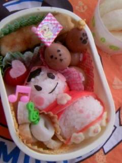 幼稚園弁当 赤ずきんちゃん 全体