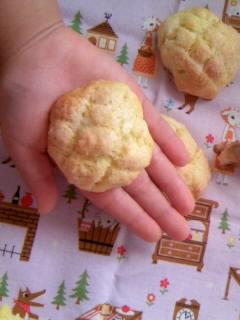 クック なんちゃってメロンパン 手のひらサイズ