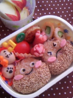 幼稚園弁当 くりくり弁当  全体