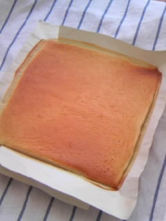 オリジナル ロールケーキ マロン 焼き上がり生地全体