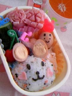 幼稚園弁当 うさちゃん弁当 全体