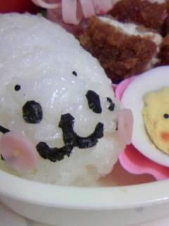 幼稚園弁当 あざらしくん アップ☆