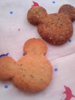 オリジナル 黒ゴマサブレクッキー 前のと比較