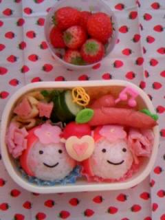 幼稚園弁当 最後のキク組さん弁当 全体