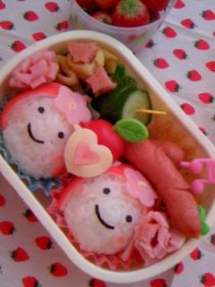 幼稚園弁当 最後のキク組さん弁当 ちょっとアップ