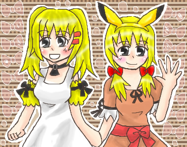 黒紀翼さん宅ピカチュウ♀の稚姫さんと輝風さん