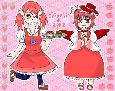 お料理上手な娘さんです。キアンティさんにお菓子を作っていただいたシチュエーションです。