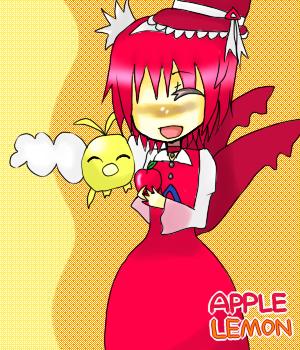 「アップルの大好きな林檎を持たせてくださって感激です!二人の仲の良さが伝わってきますv」