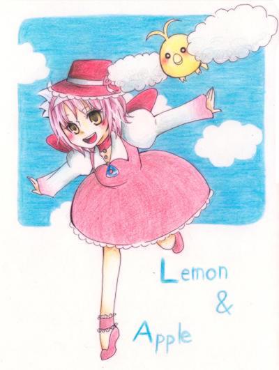 「元気いっぱいに飛び回っているアップルとレモンが凄く楽しそうで素敵です!背景もアップルの好きな青空で嬉しいですv」