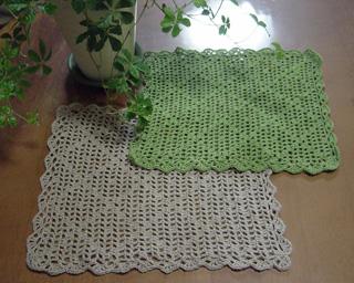 編み物 カフェマット